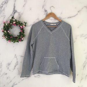 Caslon V-Neck Sweatshirt With Kangaroo Pocket